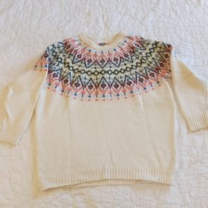 Aerie Fair Isle Tunic Sweater